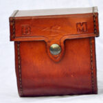 A mohlin leather reel case