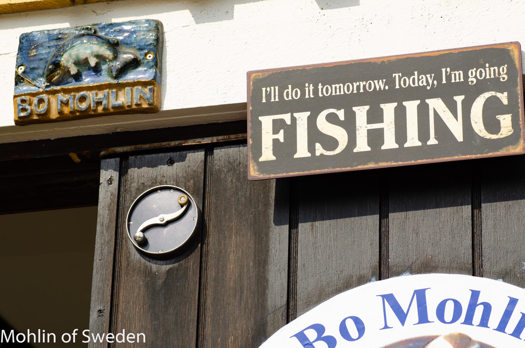 Signs on workshop entrance